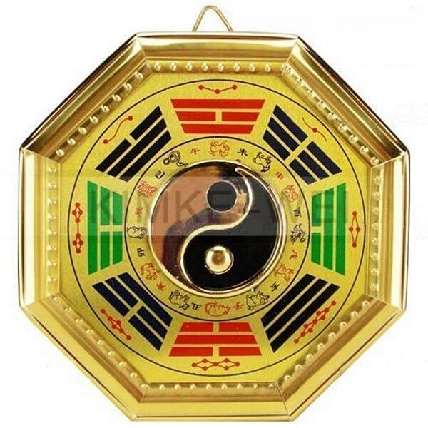 chinese traditional feng shui bagua yin yang mirror ebay. Black Bedroom Furniture Sets. Home Design Ideas