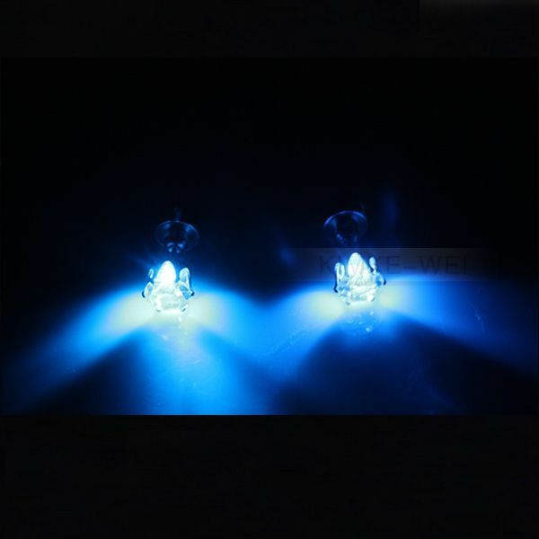 Color Led Earrings Light Up Glowing Studs Ear Ring Drop: 1 Pair Blue Color Light Up Led Earrings New