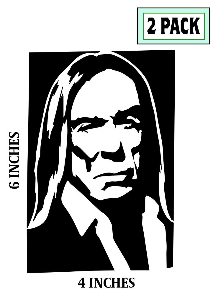 2 Iggy Pop Stickers Cut Vinyl Decal The Stooges Punk Rock
