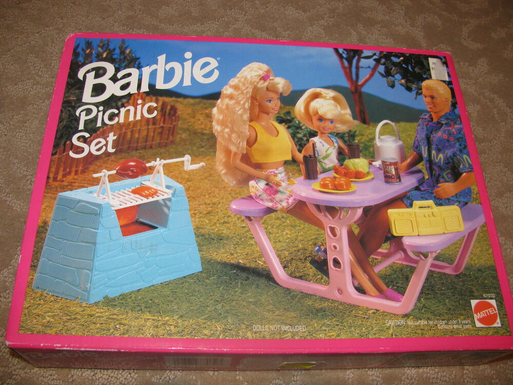 New Sealed Barbie So Much To Do Picnic Set Barbecue Grill