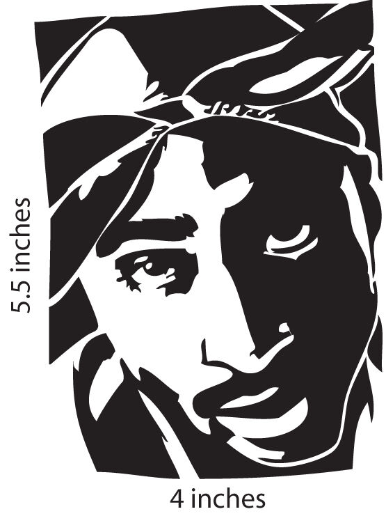 2 Tupac Shakur Stickers Cut Vinyl Decal 2pac Makaveli