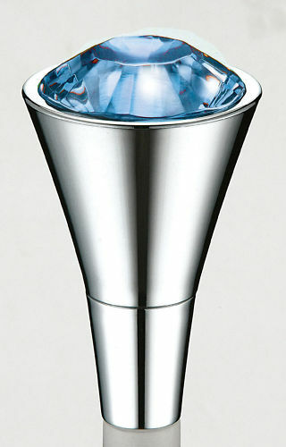 Diamond Shift Shifter Crystal Gear Stick Knob Blue Gift Ebay