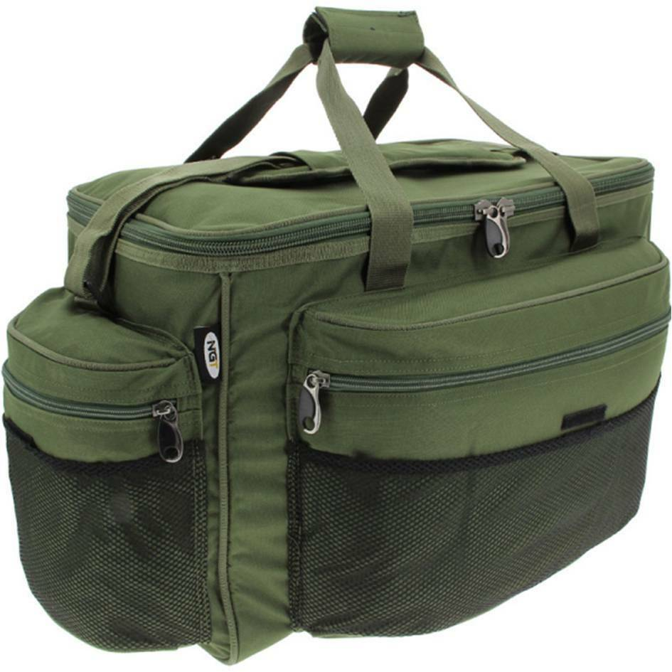 Brand new large green carp coarse pike fishing tackle bag for Fishing tackle bag