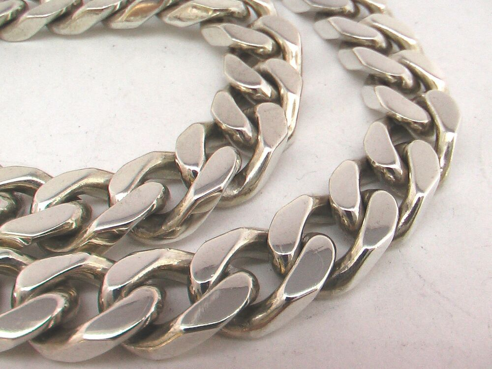 Taxco mexican 925 sterling silver curb chain necklace for What does 925 ksj mean on jewelry