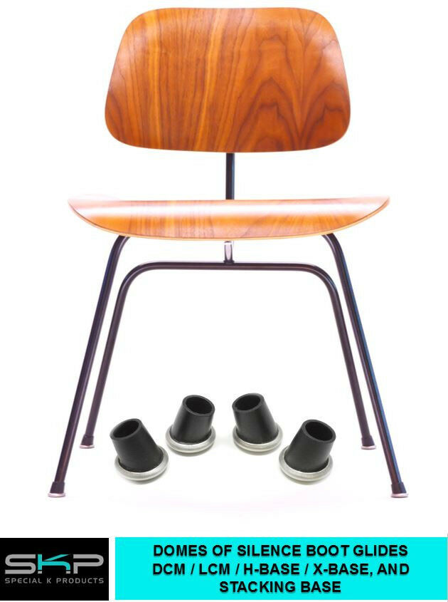 dcm lcm chair rubber boot glides for herman miller eames h base x