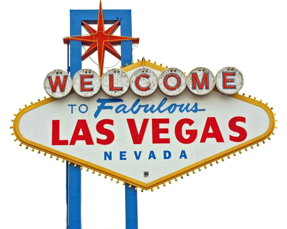welcome to fabulous las vegas nevada sign city strip 8 x 10 photo picture g1 ebay. Black Bedroom Furniture Sets. Home Design Ideas