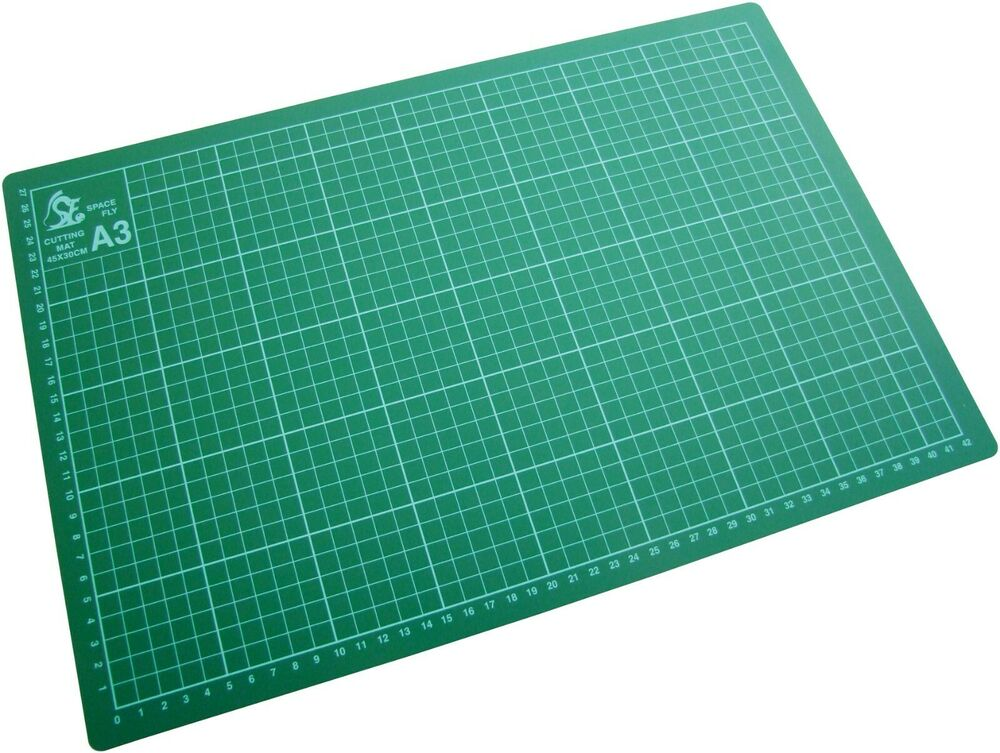 A2 A3 A4 Or A5 Cutting Mat Non Slip Printed Grid Lines