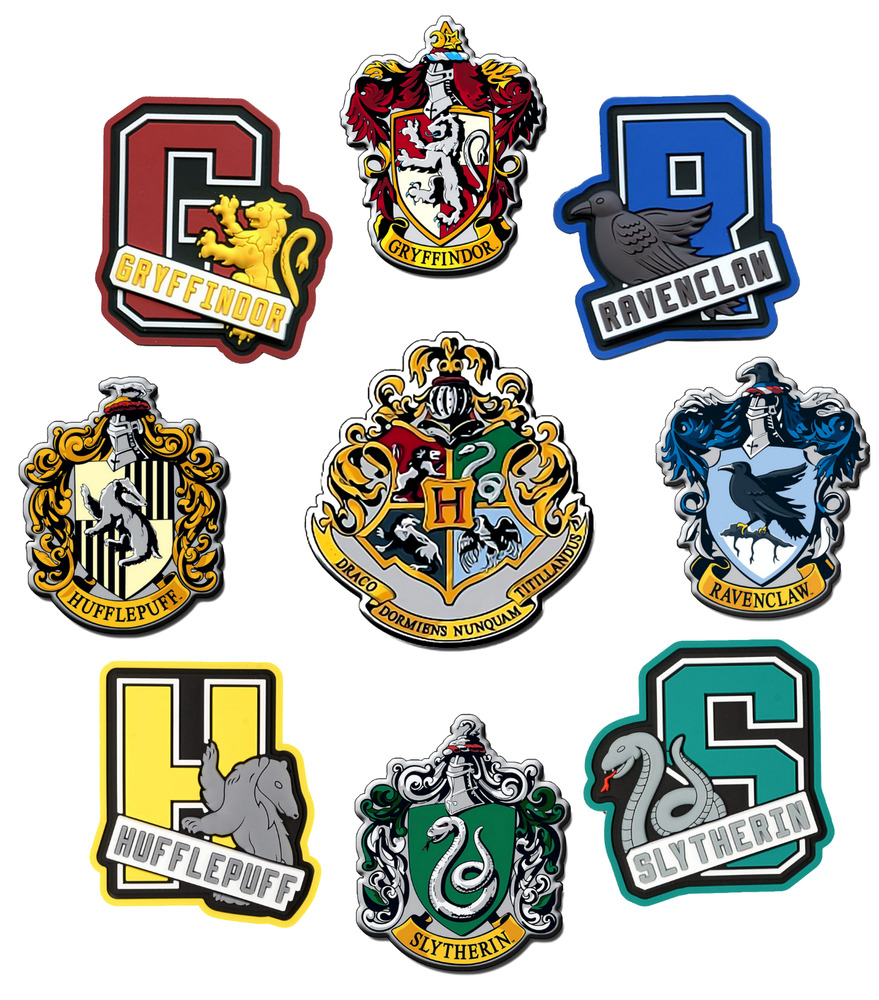 HARRY POTTER IRON ON T-SHIRT TRANSFER HOUSE CRESTS ...