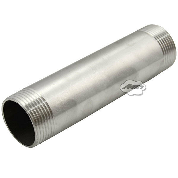 Quot male stainless steel threaded pipe