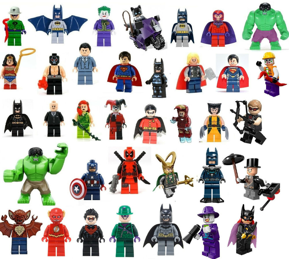 lego super heroes minifigs your choice marvel dc batman