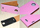 Pink Genuine Leather Real Leather Flip Phone Case Cover Skin for HTC One X XL