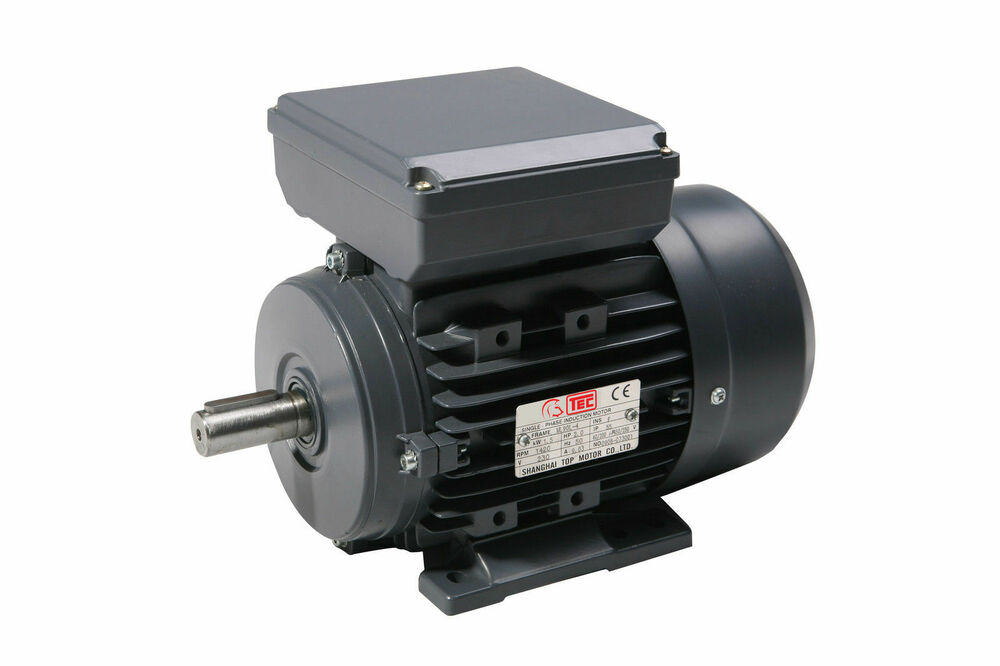 Kw 0 5 hp single phase electric motor 240v 1400 rpm for One horsepower electric motor