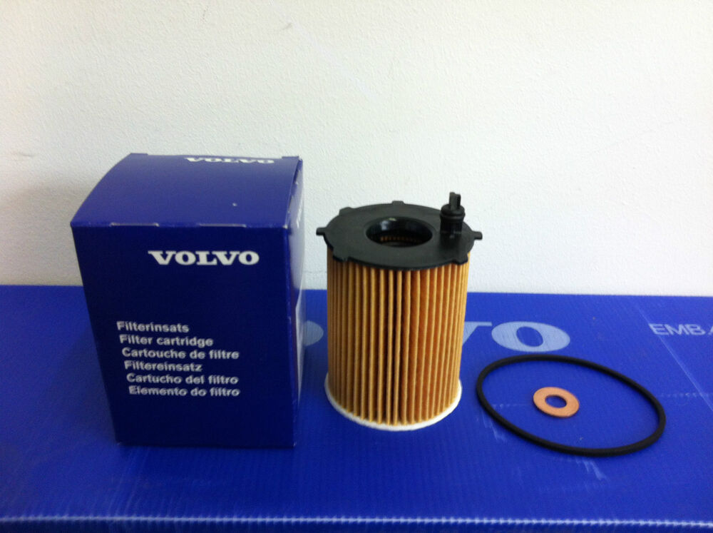 GENUINE VOLVO OIL FILTER & WASHER 30735878 1.6D DIESEL NEW S40 V50 C30 V70 S80 | eBay