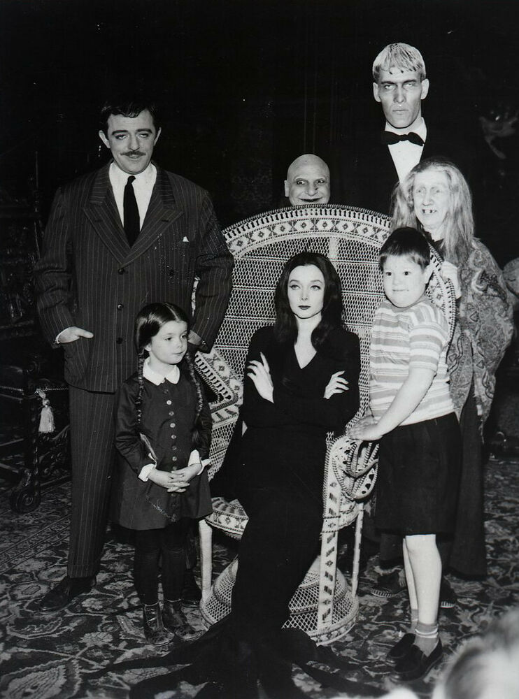 the addams family original tv series cast glossy picture 8x10 photo ebay. Black Bedroom Furniture Sets. Home Design Ideas