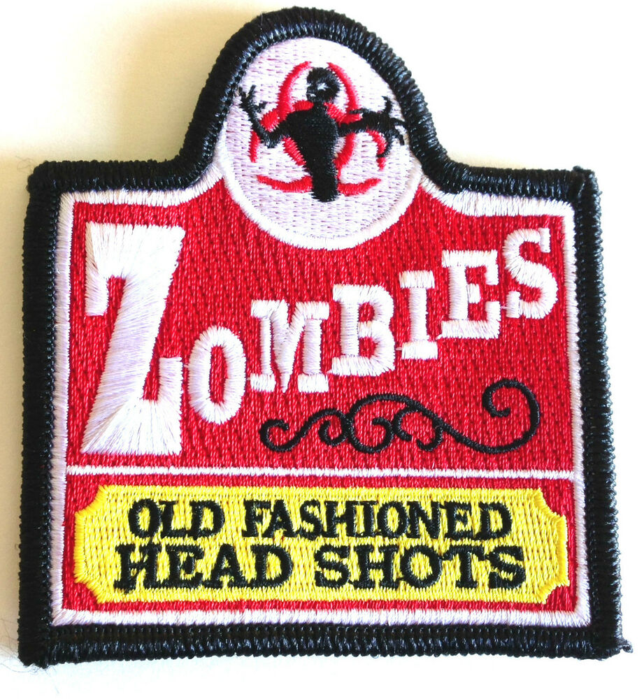 Tactical OLD FASHION ZOMBIE Head Shots Military Morale Patch | eBay