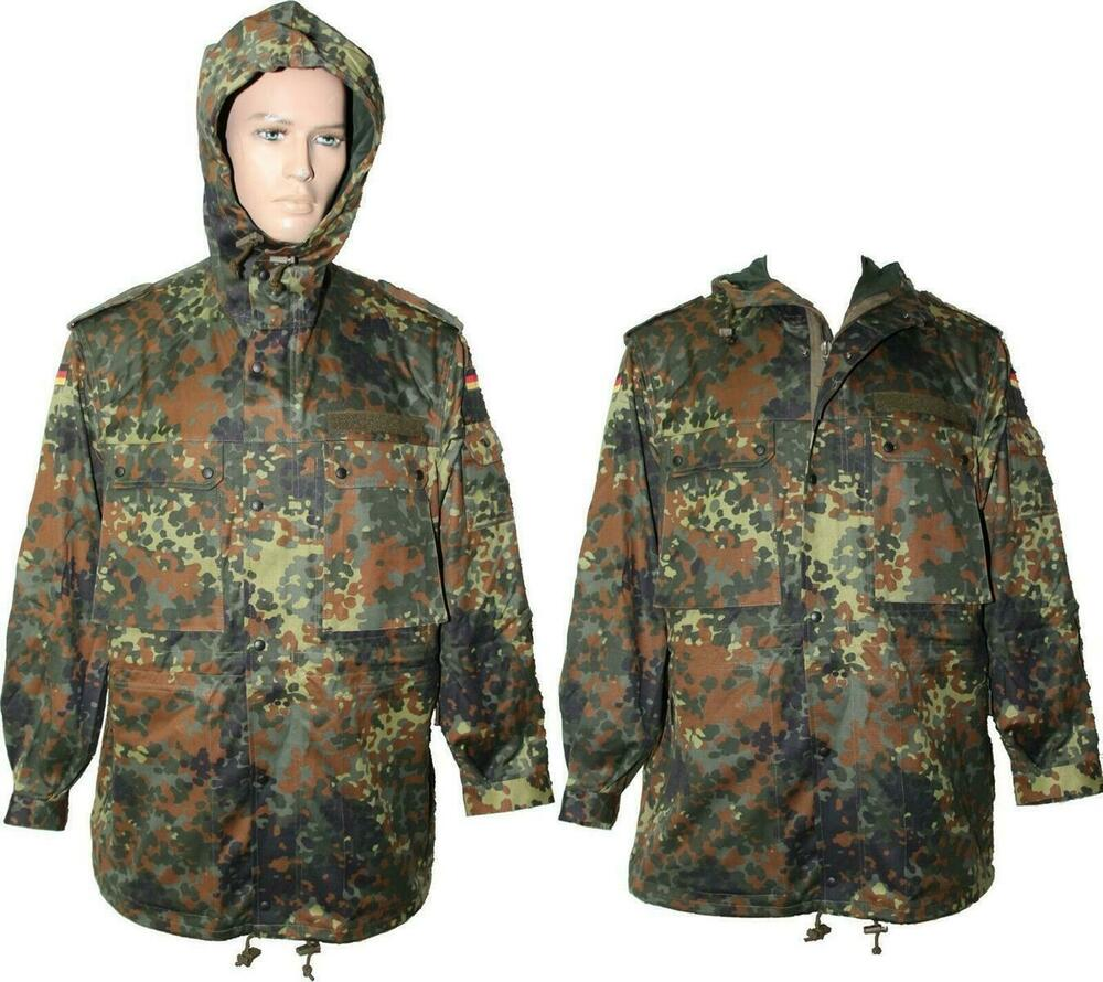 original bundeswehr parka flecktarn bw jacke feldparka neu o gebraucht xs xxxl ebay. Black Bedroom Furniture Sets. Home Design Ideas