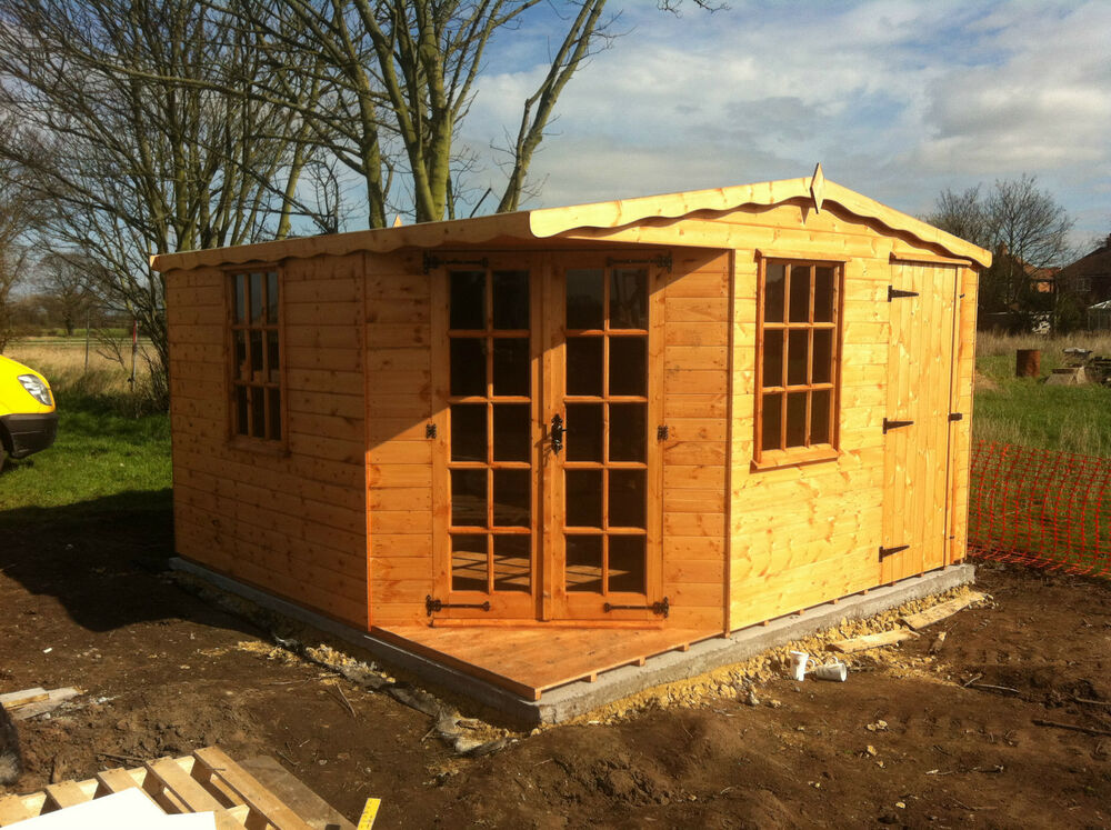 Designer Apex 10 X 10 Summerhouse Storage Shed Ebay