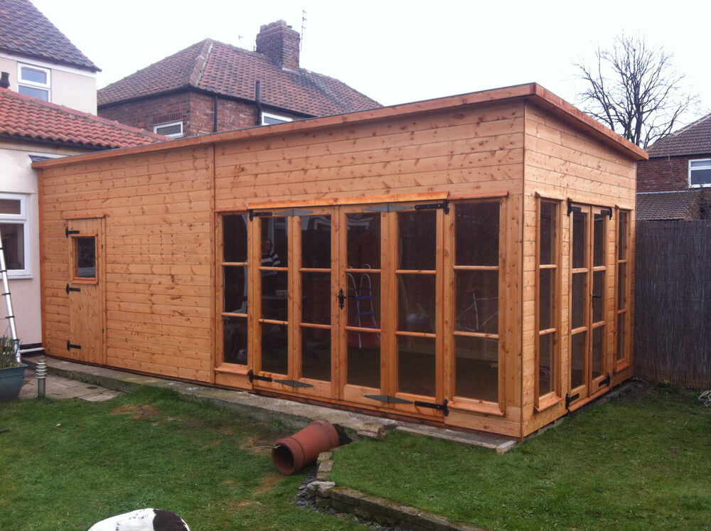 Wooden shed house extention conservatory etc ebay for Garden shed tab