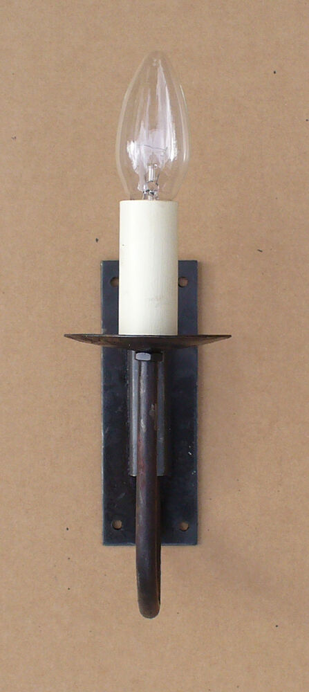 Rustic Cottage Single Wall Light Set Hand Forged Wrought
