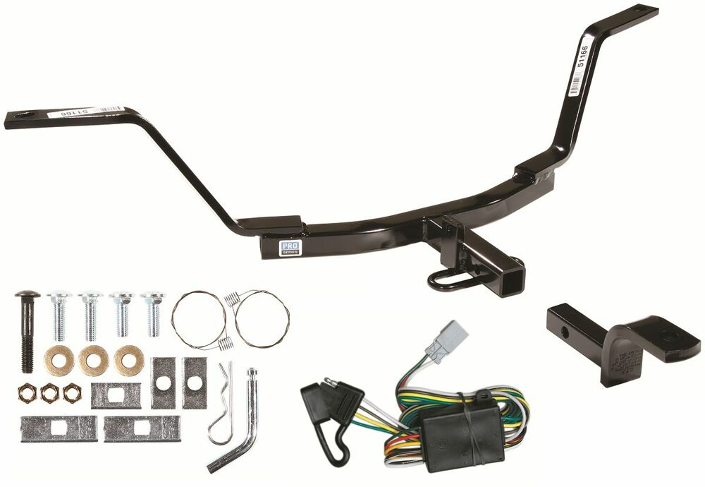 Trailer receiver tow hitch w t connector wiring kit no