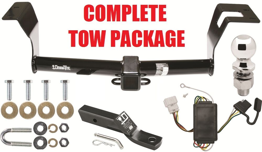 COMPLETE TRAILER RECEIVER    TOW    HITCH    PACKAGE    W WIRING KIT