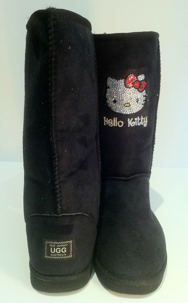 ugg boots featuring swarovski crystals hello kitty ebay. Black Bedroom Furniture Sets. Home Design Ideas