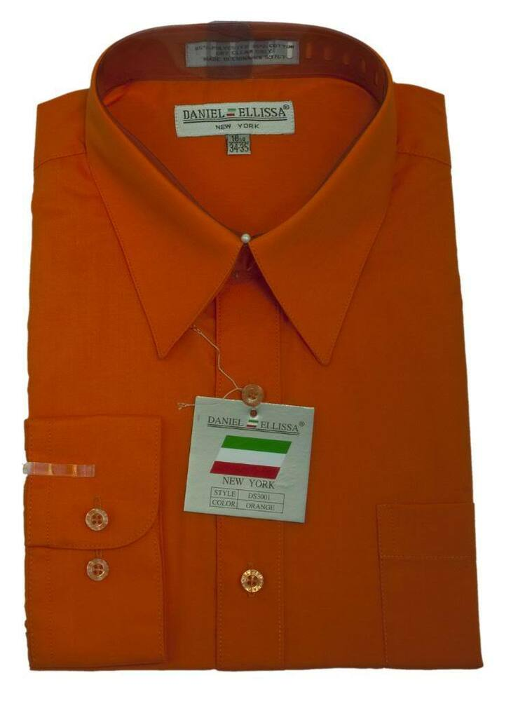 new daniel ellissa men 39 s fashion dress shirt orange