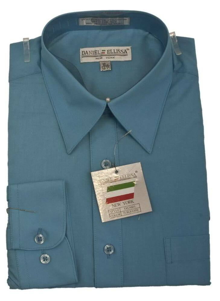 Fer_SH1 Shiny Luxurious Cheap Fashion Clearance Shirt Sale Online For Men turquoise ~ Light Blue Stage Party $ BUY NOW. ID#MK Daniel Ellissa Bright Two Tone Basic Solid Plain French Cuff Turquoise Dress Cheap Fashion Clearance Shirt Sale Online For Men Big and Tall Suits Sizes $