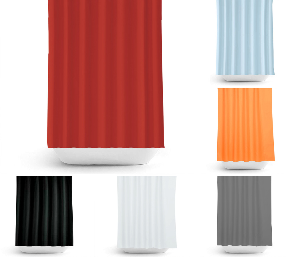 fabric extra long shower curtain white black red orange