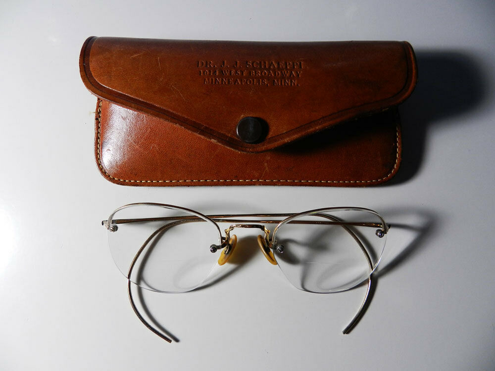 Vintage womens Benson Rimless Glasses gold 1/10, 12K GF eBay