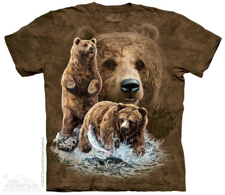 Find 10 Grizzly Bears The Mountain Adult Child T Shirts
