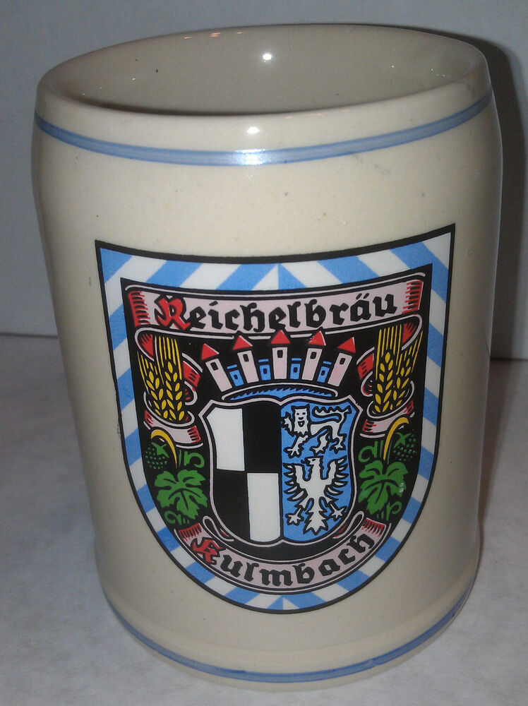 reichelbrau kulmbach stein german ceramic stein stoneware mug 5 l vintage new ebay. Black Bedroom Furniture Sets. Home Design Ideas