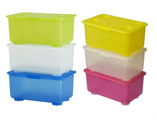 Ikea 3 Box W Lid Pen Pencil Holder Stackable Storage Jar