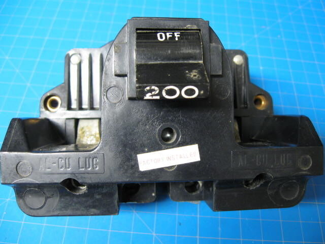 used 200 amp federal pacific main breaker fpe type 2b | ebay 200 amp 3 phase fuse box