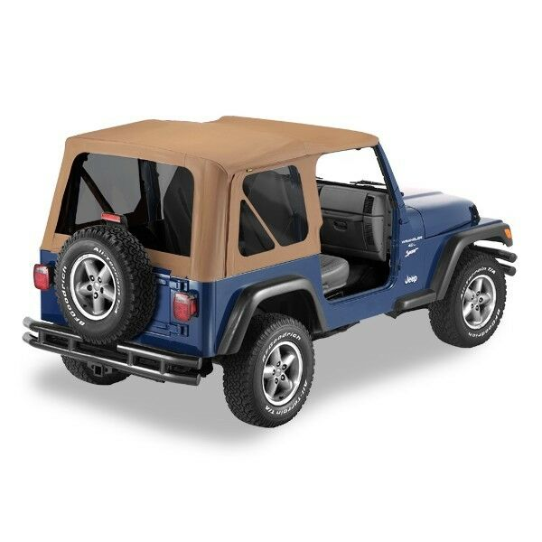 Jeep Wrangler Replacement Soft Top >> Jeep Wrangler TJ Spice Replacement Soft Top w/ Tinted Windows | eBay