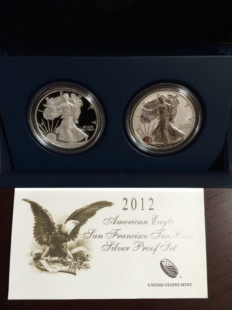 2012 American Eagle San Francisco Mint Two Coin Silver