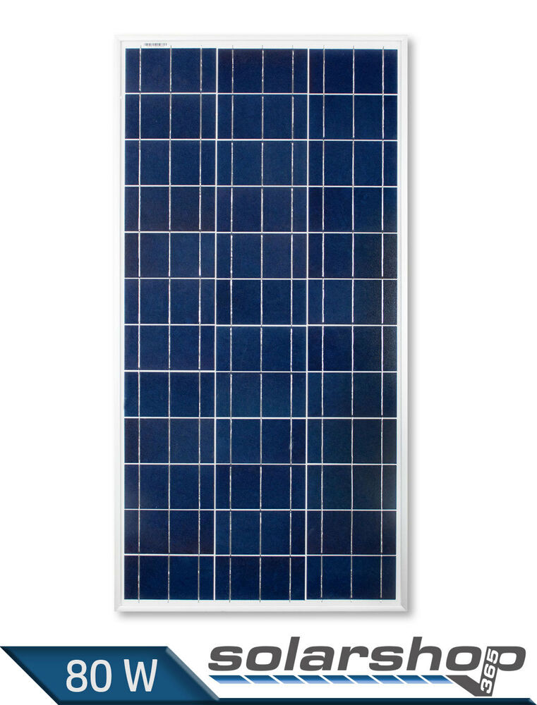 solarmodul 80w 12v polykristallin photovoltaik solarpanel. Black Bedroom Furniture Sets. Home Design Ideas