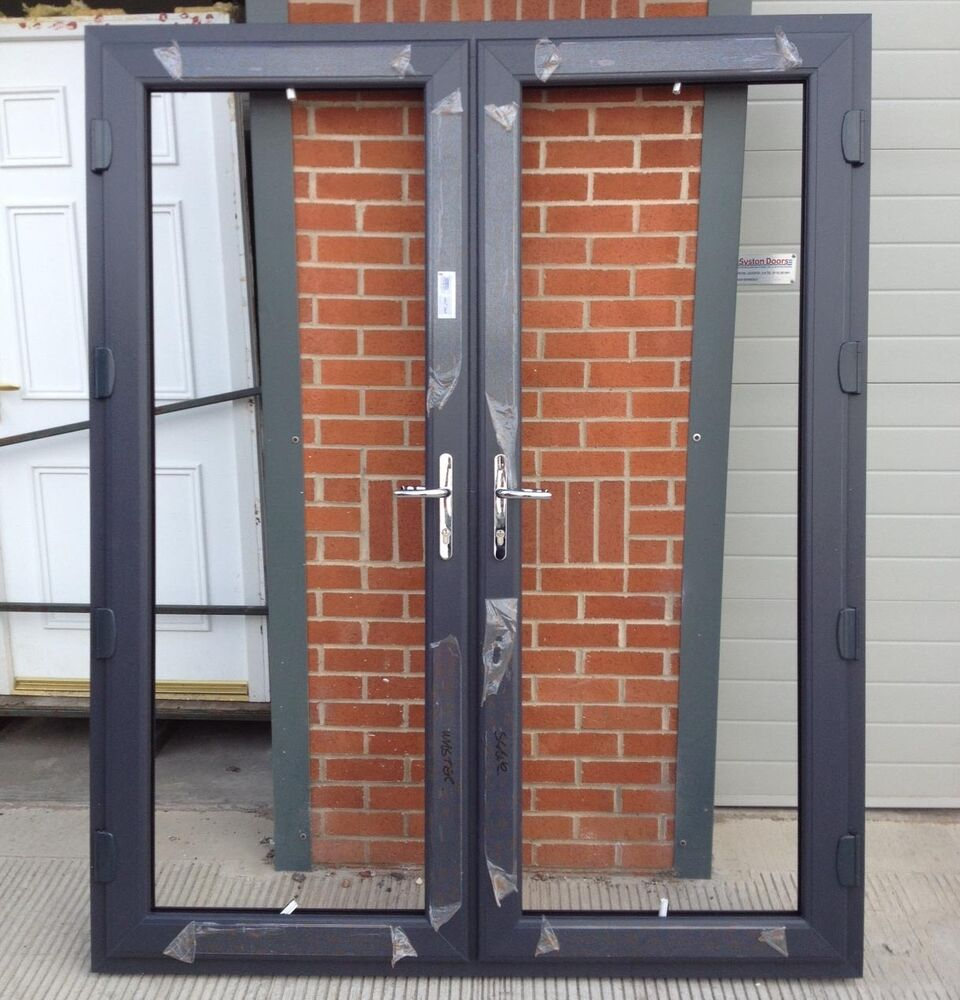 Grey upvc external french doors made to measure on 15th for Upvc french doors made to measure