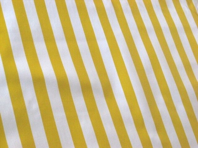 Yellow White Cabana Stripes Sun Picnic Beach Oilcloth