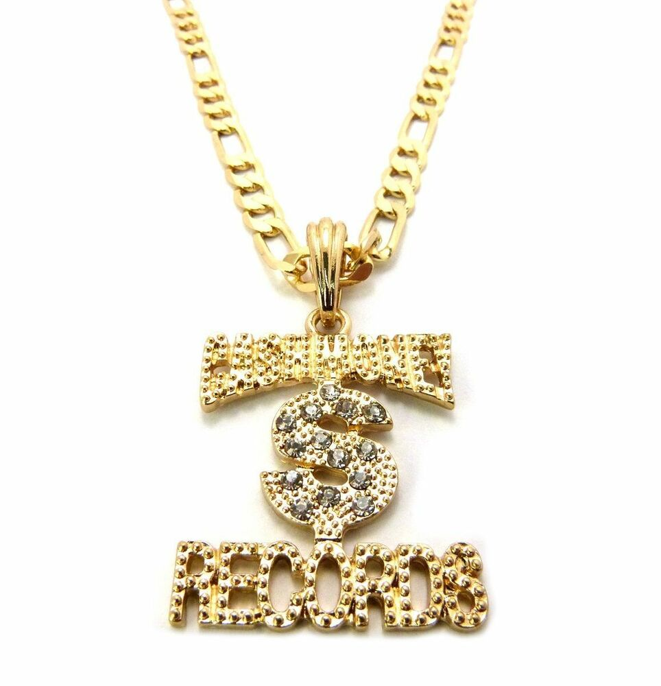 iced out money records small pendant 5mm 24 quot figaro