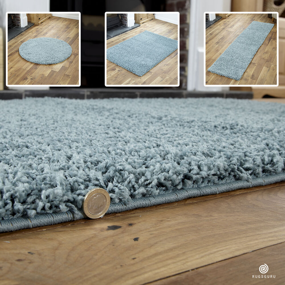 Duck Egg Blue Small X Extra Large Modern Rug Thick 5cm