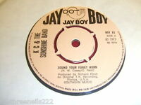 "VINYL 7"" SINGLE - KC AND THE SUNSHINE BAND - SOUND YOUR FUNKY HORN - BOY 83"