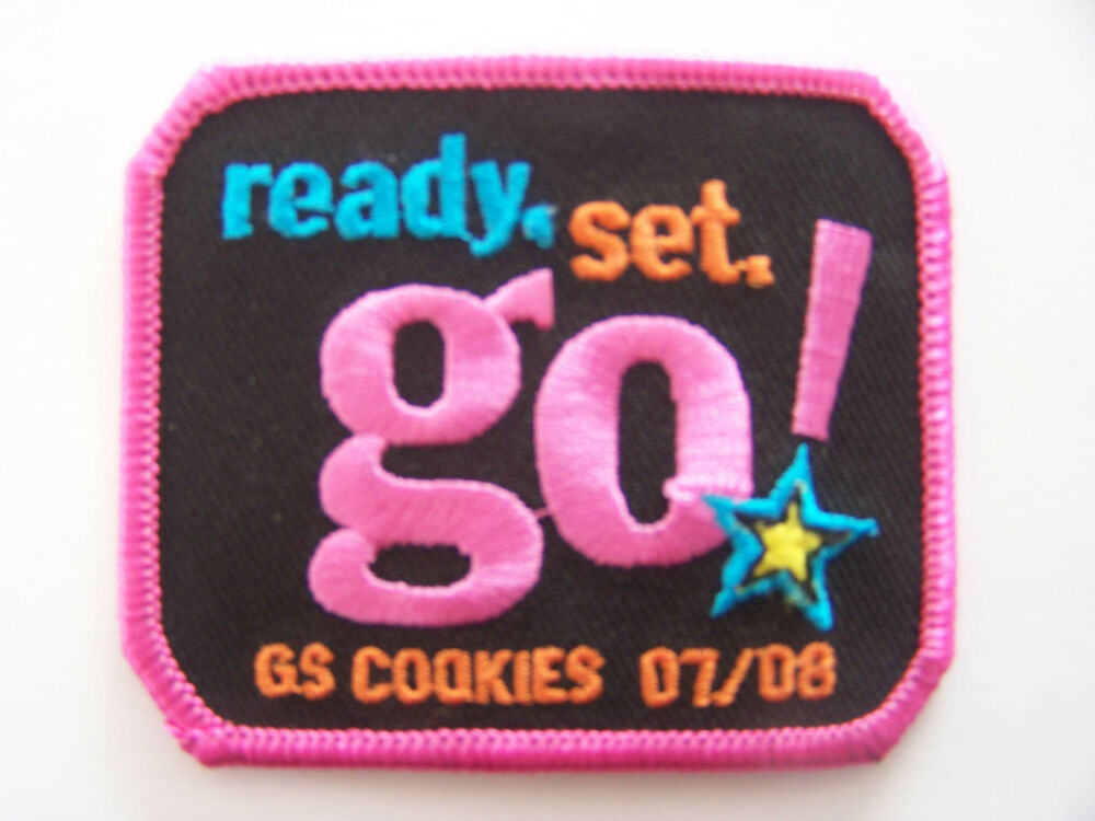 girl scouts of america cookie sale patch ready set go