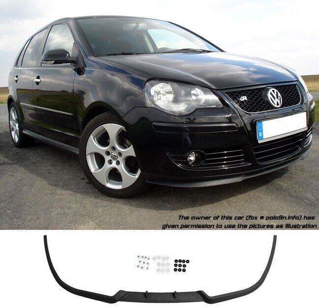 vw polo 9n3 mk4 4 gti cup front bumper cup chin spoiler. Black Bedroom Furniture Sets. Home Design Ideas
