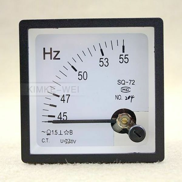 Hertz Frequency Meter : Hz v analog panel frequency meter hertz indicator