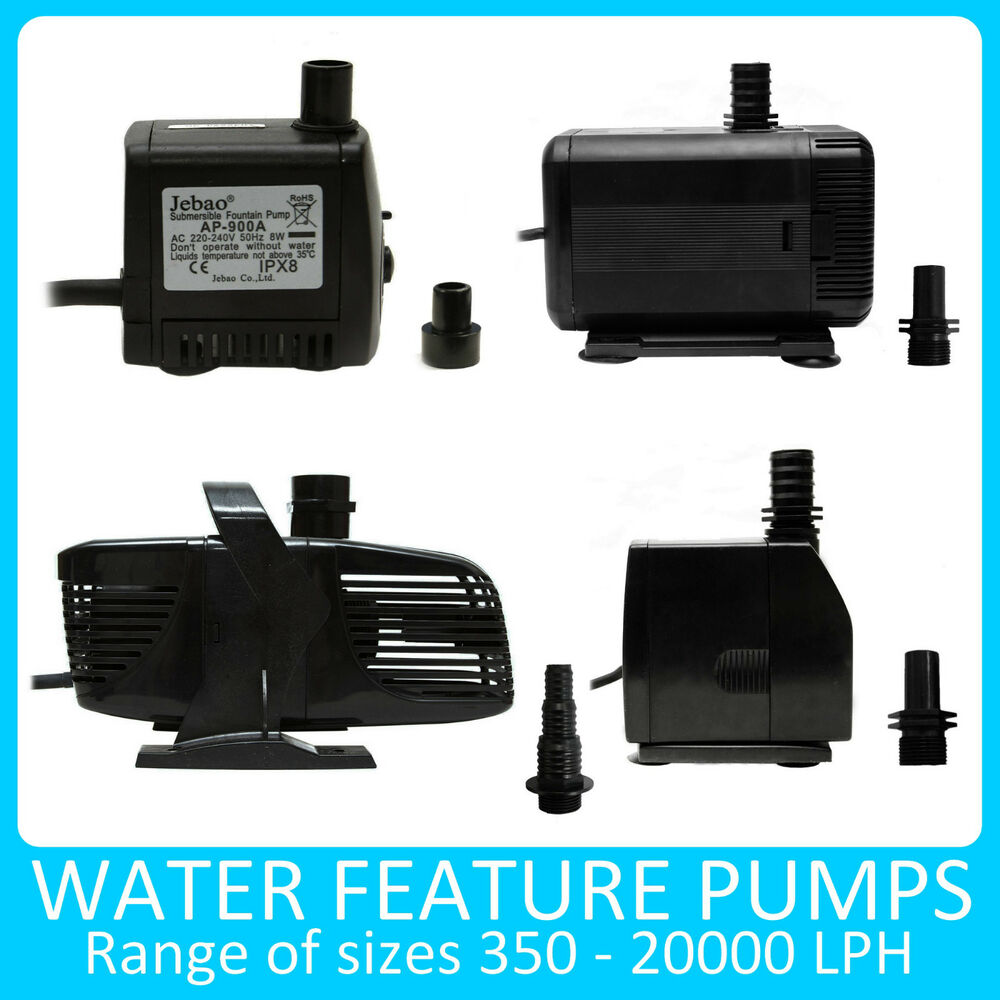 Water Pump Submerisable For Water Feature Fountain Pond Pool Mains Powered Ebay