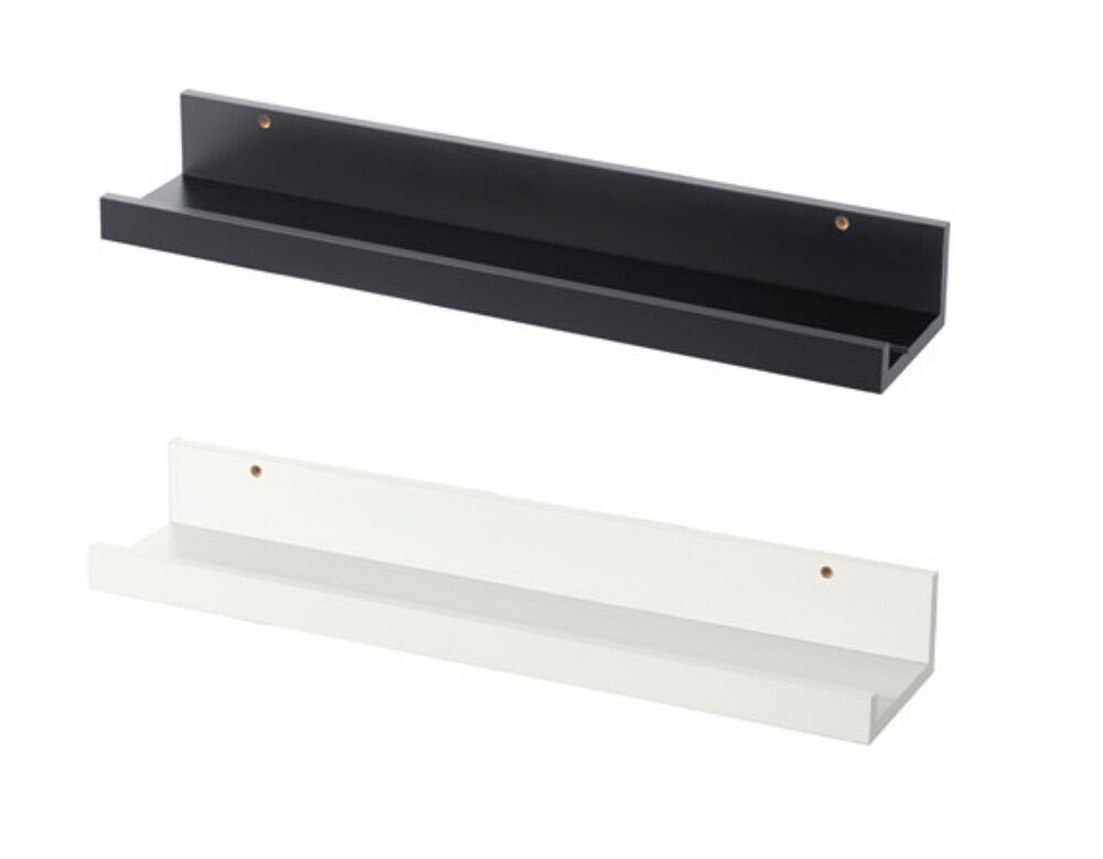 ikea picture ledge 22 floating shelf black white spice