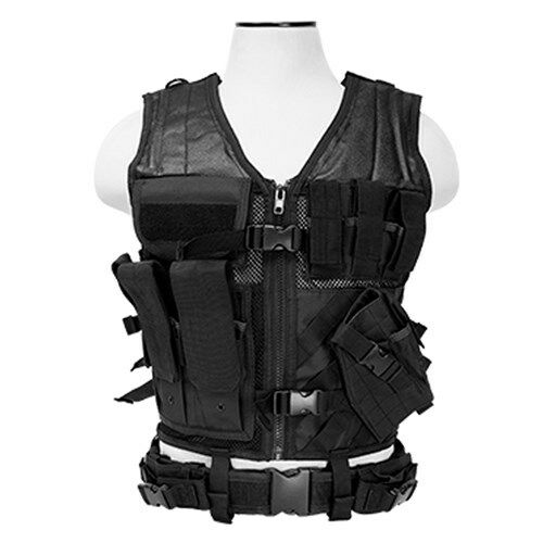 New Ncstar Tactical Vest Black Large Military Special