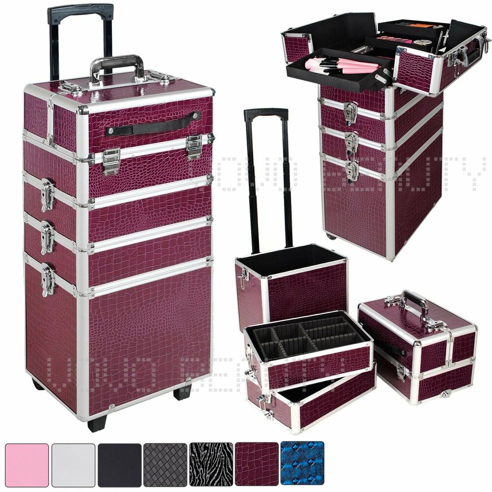 4 in 1 beauty technicians makeup vanity case hairdressing. Black Bedroom Furniture Sets. Home Design Ideas