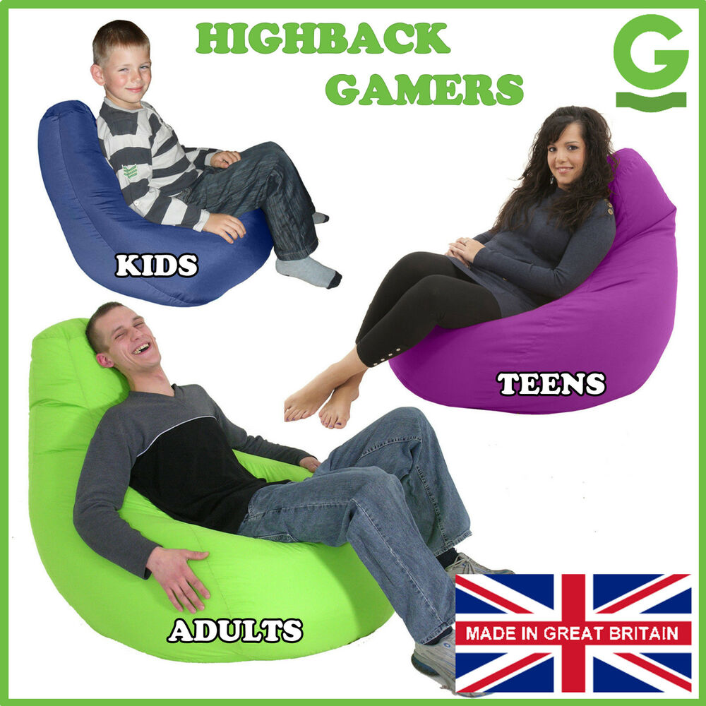 Gamer Chair Gaming Seat Game Bean Bag Lounger Beanbag 3